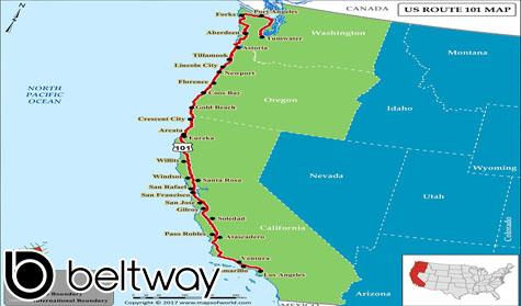 Rute 101 US di Washington Sepanjang Pantai Pasifik