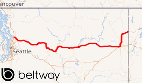 Rute 2 US Menyeberangi Washington Barat ke Timur
